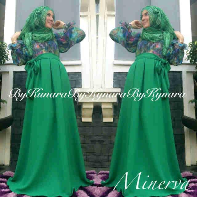 Minerva By Kynara Hijau Baju Muslim Gamis Modern