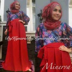 model gaun pesta cantik Pusat-Gamis-terbaru-Minerva-By-Kynara-Merah