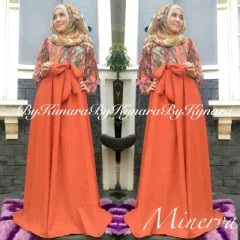 model baju pesta terbaru Pusat-Gamis-terbaru-Minerva-By-Kynara-Orange