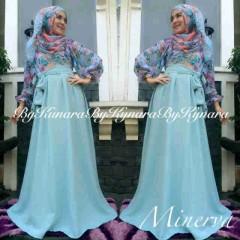 baju pesta online shop Pusat-Gamis-terbaru-Minerva-By-Kynara-biru-Laut