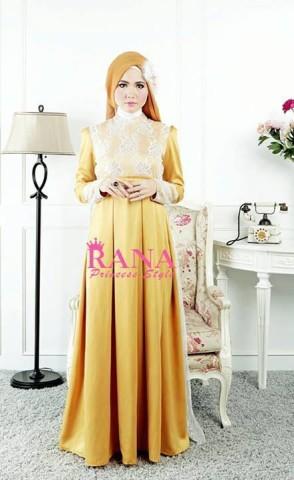 baju pesta simple elegant Pusat-Gamis-terbaru-Patriana-Dress-Gold