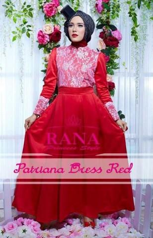 model gaun pesta yang cantik Pusat-Gamis-terbaru-Patriana-Dress-Red