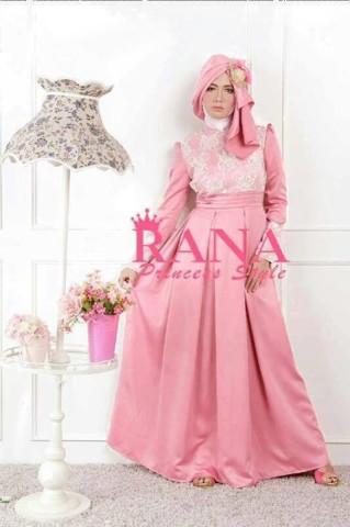 model baju pesta terbaru Pusat-Gamis-terbaru-Patriana-Dress-peach