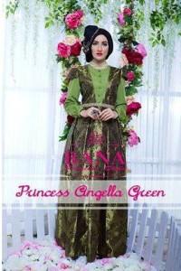 baju pesta untuk wanita muslimah Pusat-Gamis-terbaru-Princess-Angella-Green
