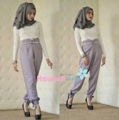 model baju pesta muslim modern Pusat-Gamis-terbaru-Quincy-Pants-Lavender