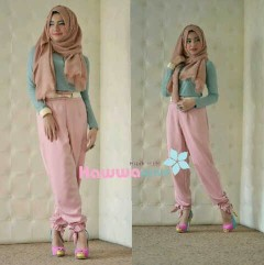 baju pesta online shop Pusat-Gamis-terbaru-Quincy-Pants-Pink