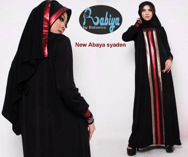 Rabiya Abaya Syaden Baju Muslim Gamis Modern