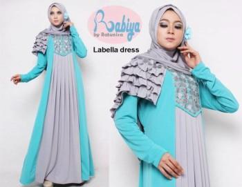 model baju pesta Pusat-Gamis-terbaru-Rabiya-Labella-Dress