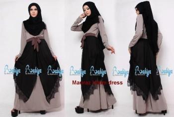 model baju pesta cardigan Pusat-Gamis-terbaru-Rabiya-Mauraz-Dress-Hitam