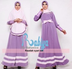 model baju pesta dres Pusat-Gamis-terbaru-Rabiya-Raudah-Syar'i-01-Ungu