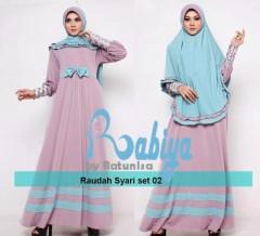 baju pesta wanita online Pusat-Gamis-terbaru-Rabiya-Raudah-Syar'i-02-Dusty-Pink