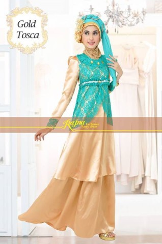 baju pesta yg bagus Pusat-Gamis-terbaru-Rajna-17-Gold-Tosca