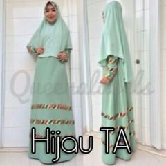 model baju pesta indonesia Pusat-Gamis-terbaru-Raline-By-Queena-Hijau-TA