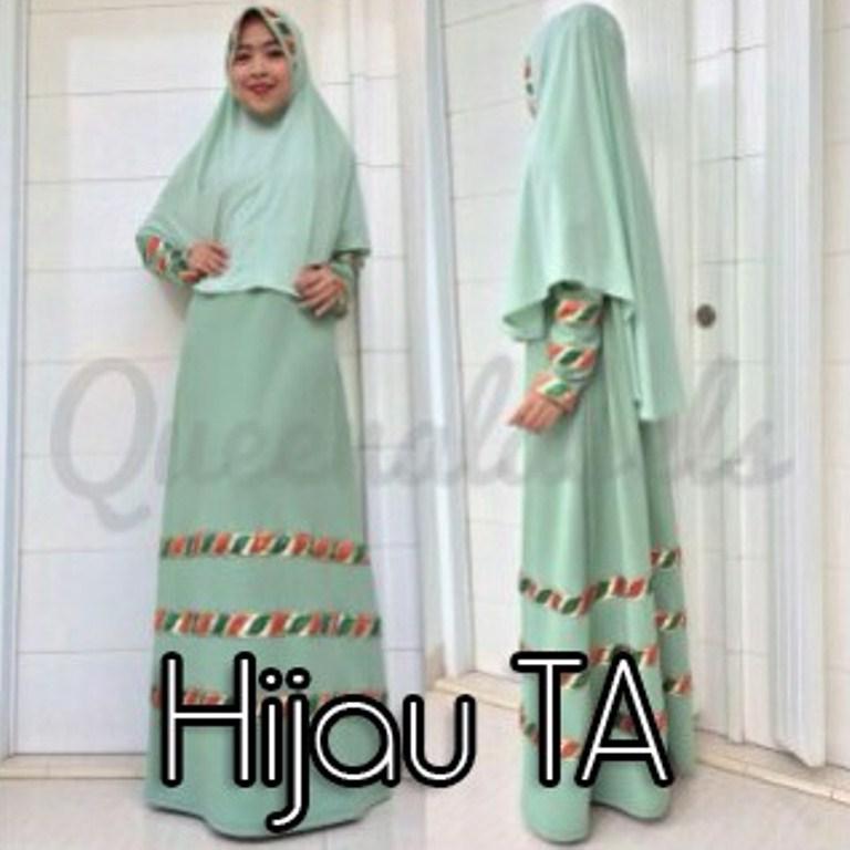Raline By Queena Hijau Ta Baju Muslim Gamis Modern