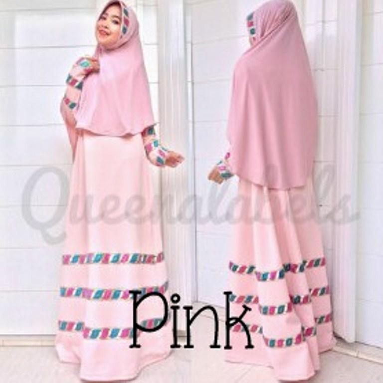 baju pesta yang lagi trend Pusat-Gamis-terbaru-Raline-By-Queena-Pink