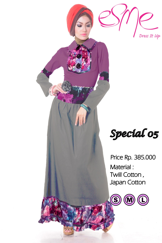 Esme Special 05 Baju Muslim Gamis Modern