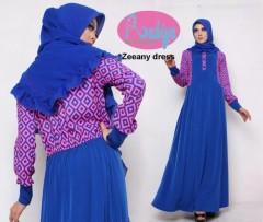model baju pesta muslim Pusat-Gamis-terbaru-Zeeany-Dress-Pink