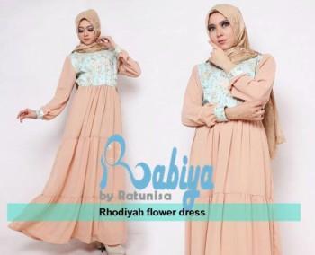 model baju pesta terkini Pusat-gamis-terbaru-Rhodiyah-Flower-Dress