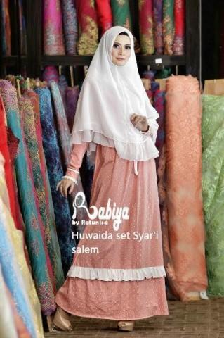 baju pesta anak perempuan pusat-Gamis-Terbaru-Afiqoh-set-Syar'i-Salem