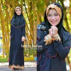 baju pesta untuk hijabers pusat-Gamis-terbaru-Salima-By-Fakhriya-Hitam