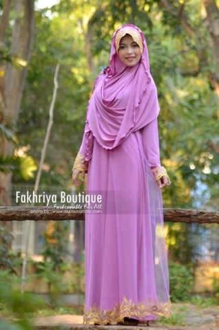 baju pesta panjang baju pesta panjang pusat-Gamis-terbaru-Salima-By-Fakhriya-Purple