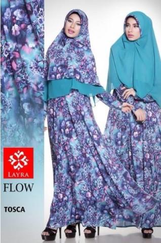 model baju pesta muslim modern pusat-gamis-Terbaru-Flow-flower-vol-2-Tosca