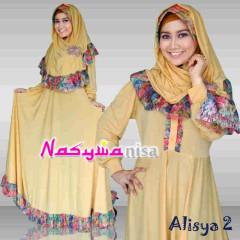 baju muslimah Pusat Gamis Terbaru Alisya vol.2 by Naswanisa Kuning Gading