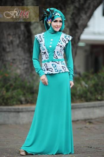 Azarine By Fitria Style Tosca Baju Muslim Gamis Modern