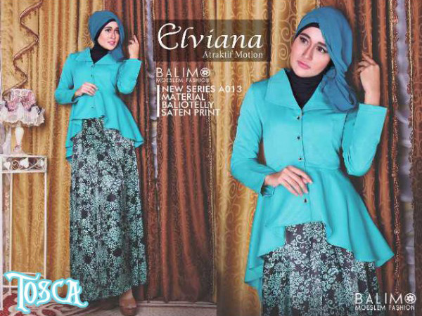 Balimo Elviana Tosca Baju Muslim Gamis Modern