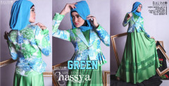 Baju Muslimah Busui Pusat Gamis Terbaru Balimo Hassya Green