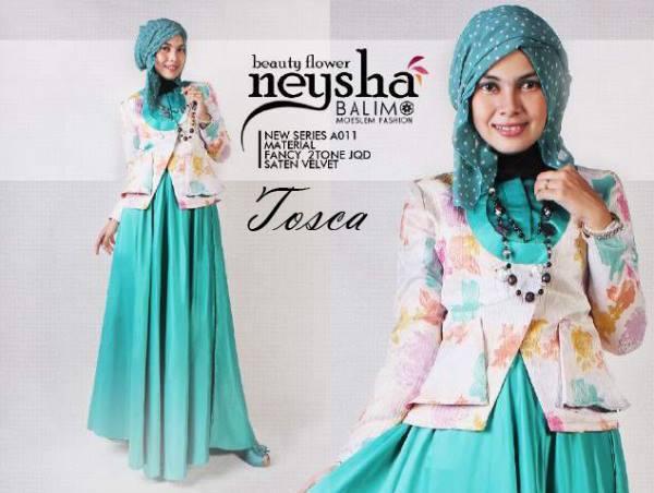 Neysha B Flower Tosca Baju Muslim Gamis Modern