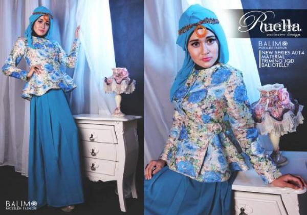 Balimo Ruella Tosca Baju Muslim Gamis Modern