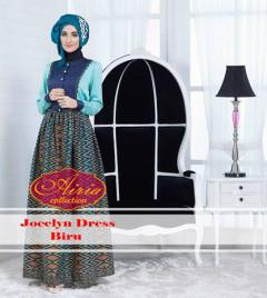 Pusat Gamis Terbaru Jocelyn Dress Biru by Airia Collection