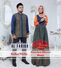 Pusat Gamis Terbaru Koko Nicky Jocelyn Dress Bata by Airia Collection