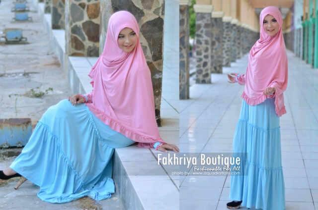 baju-muslimah-syar'i-Pusat-Gamis-Terbaru-Marjuwwa-by-Fakhriya-boutique-pink-dw-biru-muda