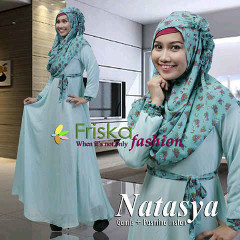 Pusat Gamis Terbaru Natasya Polos by Friska Fashion Tosca