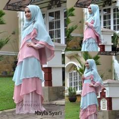 Pusat Gamis Terbaru Nayla by Kynarra Dusty Pink