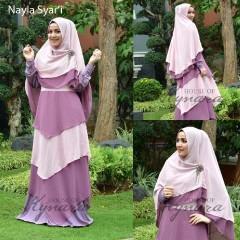 Pusat Gamis Terbaru Nayla by Kynarra Purple