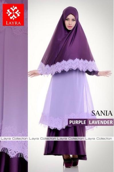 baju pesta eksklusif Pusat Gamis Terbaru Sania By Layra Purple Lavender