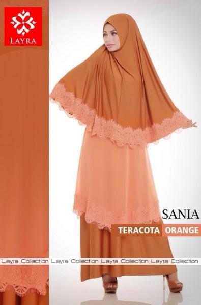 model baju pesta Pusat Gamis Terbaru Sania By Layra Teracota Orange