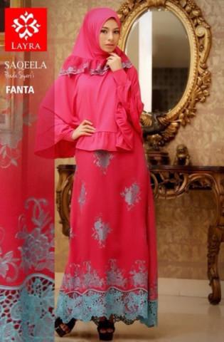 baju muslim modern Pusat Gamis Terbaru Saqeela By Layra Fanta