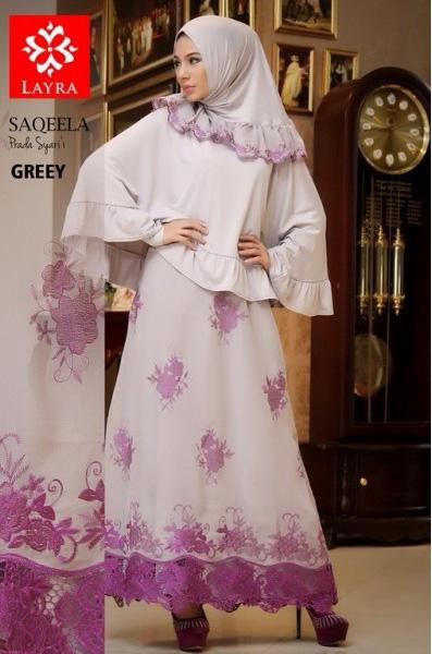baju muslim modis terbaru Pusat Gamis Terbaru Saqeela By Layra Grey