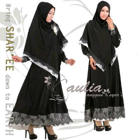 Black Velvet Queen By Aulia Baju Muslim Gamis Modern