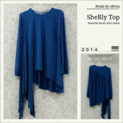 Pusat Gamis Terbaru Sherly Top by Moda Blue