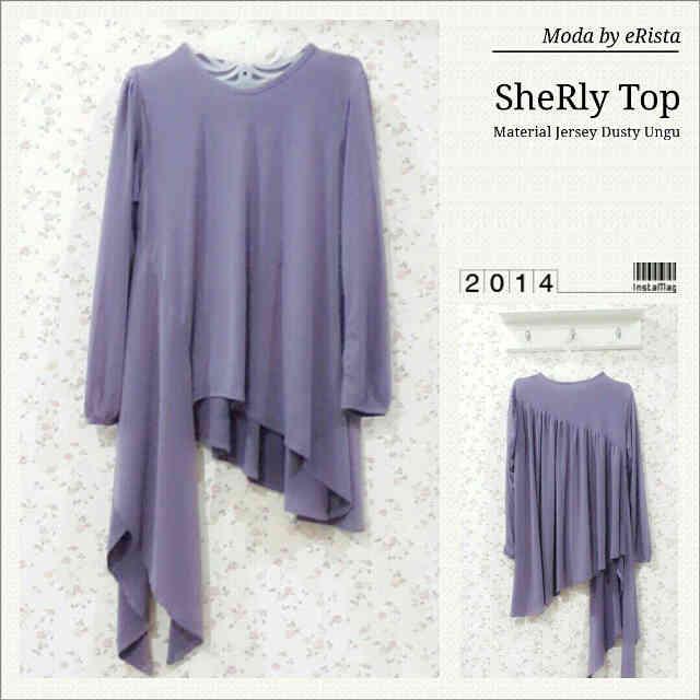Pusat Gamis Terbaru Sherly Top by Moda Lavender