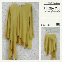 Pusat Gamis Terbaru Sherly Top by Moda Yellow