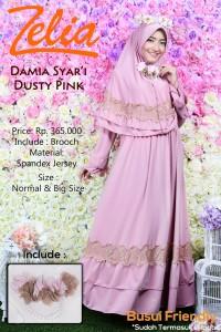 Pusat Gamis Terbaru by Zelia Damia Dusty Pink