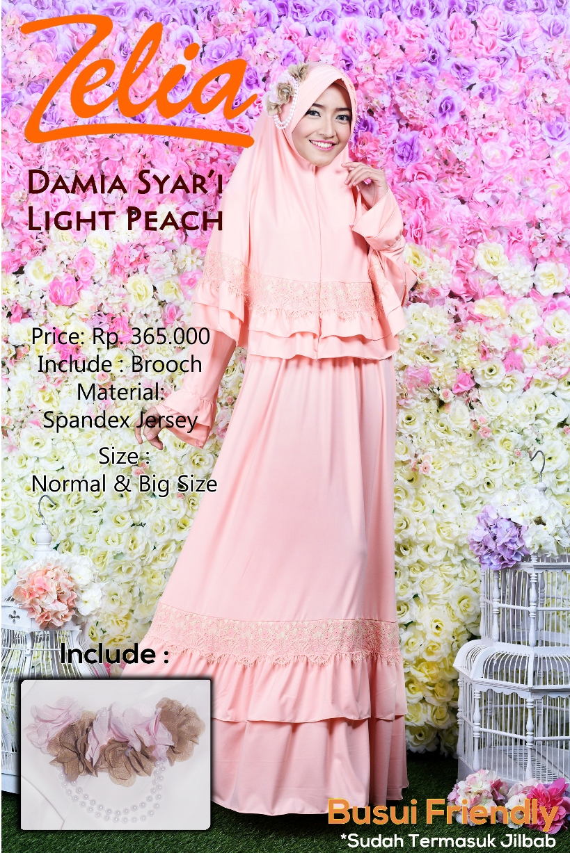 Pusat Gamis Terbaru by Zelia Damia Light Peach