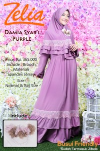 Pusat Gamis Terbaru by Zelia Damia Purple