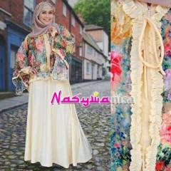 model baju pesta jilbab  Pusat-Gamis-terbaru-ALFIRA by-Nasywannisa-Cream